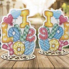 фото: новогоднее украшение для вышивки крестом Набор для вышивания крестом Серия День Святого Валентина. I love you