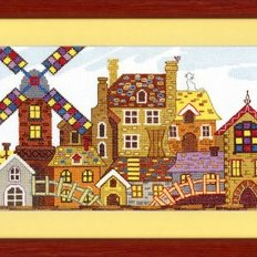 Набор для вышивки крестом Сказочный городок