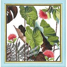 фото: картина, вышитая крестиком, Сквозь жаркие тропики