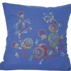 фото: подушка, вышитая крестиком, Нити цвета