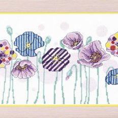 фото картина для вышивки бисером цветы маки
