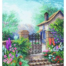 фото: картина для вышивки крестиком, Цветущий сад