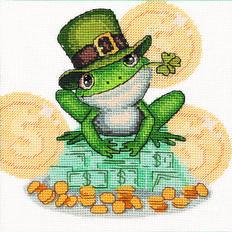 фото: картина для вышивки крестиком, Денежная жаба