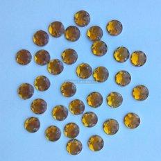 Камни пришивные, янтарные, 7 мм (10 шт)