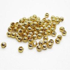 фото: бусины пришивные золотые, 4 мм