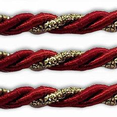 фото: шнур витой бордовый для оформления сапожков и игрушек