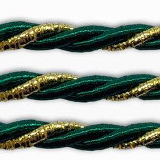 фото: шнур витой зелёный для оформления сапожков и игрушек