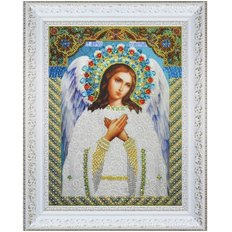 изображение: икона для вышивки бисером Ангел хранитель