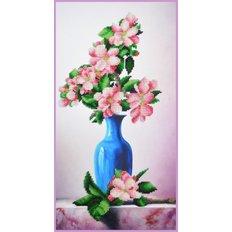 фото: картина, вышитая бисером, Яблоневый цвет