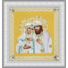 Набор для вышивки бисером Икона Святые Петр и Феврония (ажур) золото