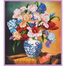 фото: картина для вышивки бисером, Букет ирисов