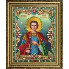 изображение: икона бисером Георгий Победоносец