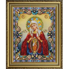 изображение: икона бисером Помощница в родах