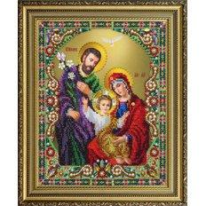 изображение: икона бисером Святое семейство