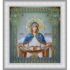 изображение: икона бисером Покров Пресвятой Богородицы