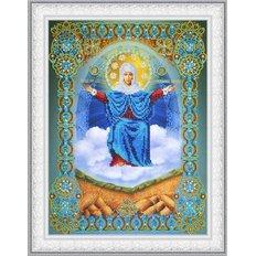 изображение: Икона Божией Матери Спорительница хлебов, вышитая бисером