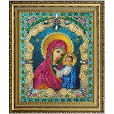 изображение: Казанская икона Божией Матери, вышитая бисером
