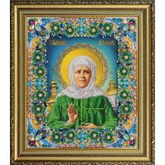 изображение: Икона Святая Матрона Московская, вышитая бисером