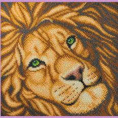 фото: картина для вышивки бисером, Лев