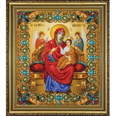 изображение: Икона Божьей Матери Всецарица, вышитая бисером
