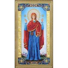 фото: икона для вышивки бисером Божья Матерь Нерушимая стена