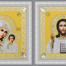 Набор для вышивки бисером Набор венчальных икон (золото)