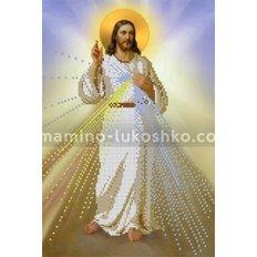 Схема для вышивки бисером Иисус, уповаю на Тебя