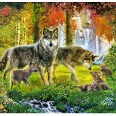 фото: схема для вышивки бисером, Волки