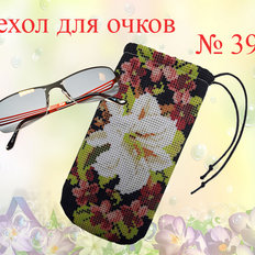 фото: сшитый чехол для очков под вышивку бисером или нитками