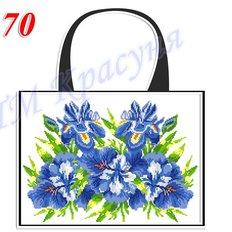 фото: пошитая сумка для вышивки бисером или нитками, белая