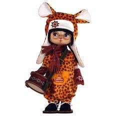 фото: текстильная кукла, сшитая из набора Леопардик