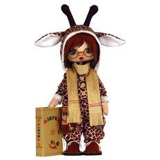 фото: текстильная кукла, сшитая из набора Премудрый жираф