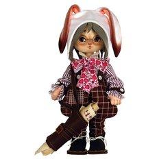 фото: текстильная кукла, сшитая из набора Белый Кролик