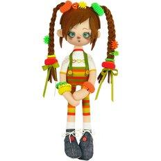 фото: текстильная кукла, сшитая из набора Ириска