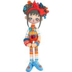 фото: текстильная кукла, сшитая из набора Апельсинка
