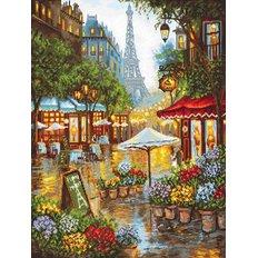 фото: картина для вышивки крестом, Весенние цветы, Париж