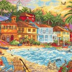 фото: картина для вышивки крестом, Время для острова
