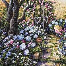 фото: картина, вышитая крестом, Сад чудес Wonderland Garden