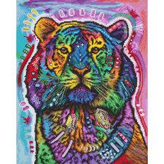 фото: картина, вышитая крестом, Любопытный тигр (Curious Tiger)