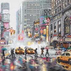 фото: картина, вышитая крестом, Нью-Йорк (New York)