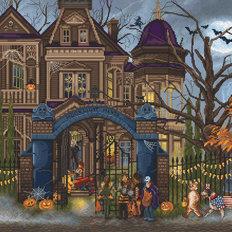 фото: картина, вышитая крестом, Усадьба лунного света (Moonlight Manor)