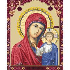 изображение: икона, вышитая крестиком, Икона Казанская Божья Матерь