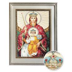 изображение: икона, вышитая крестиком, Икона Божией Матери Державная