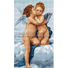 фото: картина гобелен Первый поцелуй