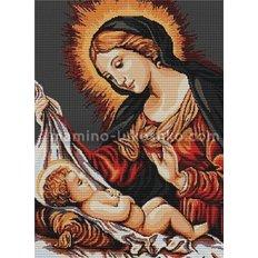 фото: картина для вышивки гобелена Божья матерь