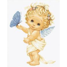 Набор для вышивки гобелена Ангелочек с бабочкой