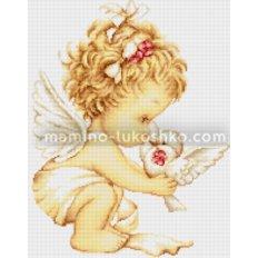 Набор для вышивки гобелена Ангелочек с голубями