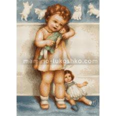 Набор для вышивки гобелена Девочка с куклой