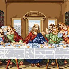 изображение: икона Тайная Вечеря, вышитая гобеленовым швом
