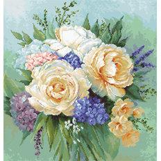 фото: картина для вышивки гобеленовым швом Цветочный букет